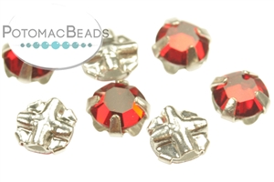 Czech Glass / 2-Hole Beads / Rose Montees