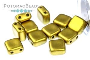 Czech Pressed Glass Beads / 2-Hole Tile Beads