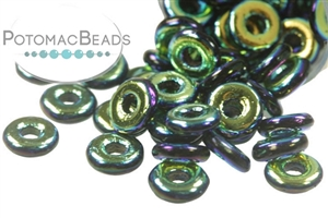Czech Pressed Glass Beads / 1-Hole Beads / O Beads