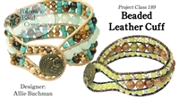 How to Bead Jewelry / Beading Tutorials & Jewel Making Videos / Bracelet Projects / Beaded Leather Cuff Tutorial