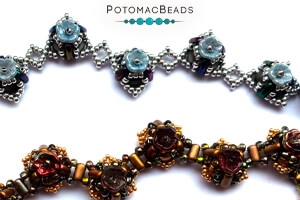 How to Bead Jewelry / Free Beading Patterns PDF / Flower Cup Bead Patterns