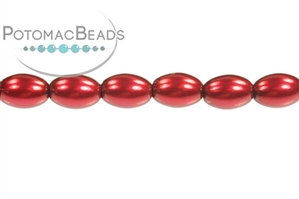 Czech Pressed Glass Beads / Rice Pearls 4x6mm