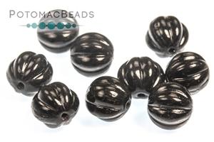 Czech Glass / Melon Ridged Round Beads 3-8mm / Melon Ridged Round Beads 8mm