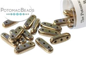 Czech Pressed Glass Beads / Beam (3-hole)