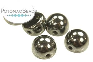 Czech Pressed Glass Beads / Czech Glass & Japanese Two Hole Beads / CzechMates 2-Hole Cabochon