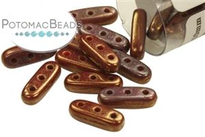 Czech Pressed Glass Beads / 3 Hole Beads / CzechMates 3-Hole Beam