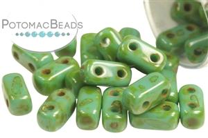 Czech Pressed Glass Beads / CzechMates Beads / CzechMates 2-Hole Brick
