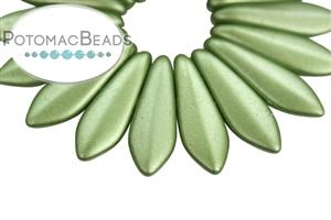 Czech Pressed Glass Beads / Daggers (2-hole)