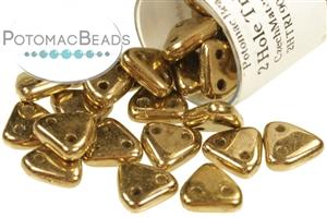 Czech Pressed Glass Beads / CzechMates Beads / Triangles (2-hole)