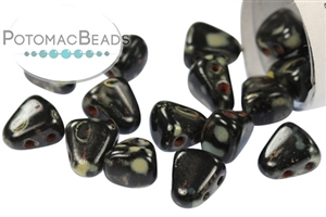 Czech Pressed Glass Beads / Nib-bit