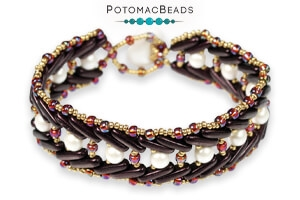 How to Bead Jewelry / Free Beading Patterns PDF / CzechMates 3-Hole Beam Patterns