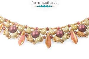 How to Bead Jewelry / Free Beading Patterns PDF / CzechMates 2-Hole Cabochon Bead Patterns