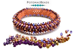 How to Bead Jewelry / Free Beading Patterns PDF / Spiky Button Bead Patterns