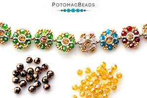 How to Bead Jewelry / Free Beading Patterns PDF / Potomac Crystal Round Bead Patterns