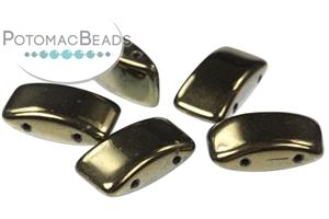 Czech Pressed Glass Beads / Czech Glass & Japanese Two Hole Beads / 2-Hole Pillows (Carrier Beads)