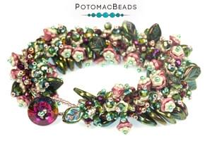How to Bead Jewelry / Free Beading Patterns PDF / Czech Daisy Bead Patterns