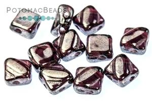 Czech Pressed Glass Beads / Czech Glass & Japanese Two Hole Beads / Table Cut 2-hole Beads