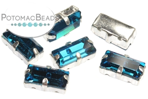 Czech Glass / 2-Hole Beads / Potomac Crystal Baguettes in Settings