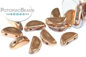 Czech Pressed Glass Beads / Semi Circle Beads