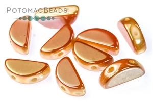 Czech Pressed Glass Beads / Czech Glass & Japanese Two Hole Beads / Semi Circle Beads
