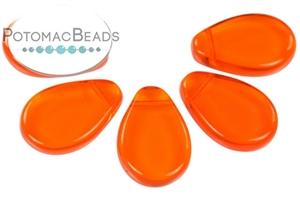 Czech Pressed Glass Beads / Drops / Flat Drops (Petal Beads 18x12mm)