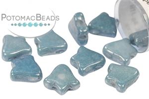 Czech Pressed Glass Beads / Czech Glass & Japanese Two Hole Beads / 2-Hole Bell