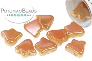 Czech Pressed Glass Beads / 2-Hole Bell