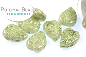 Czech Pressed Glass Beads / LeafDuo