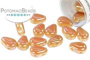 Czech Pressed Glass Beads / Czech Glass & Japanese Two Hole Beads / DropDuo Round