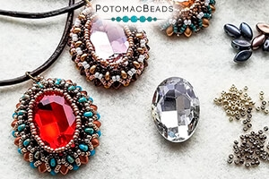 How to Bead Jewelry / Free Beading Patterns PDF / Potomac Crystal Oval Patterns