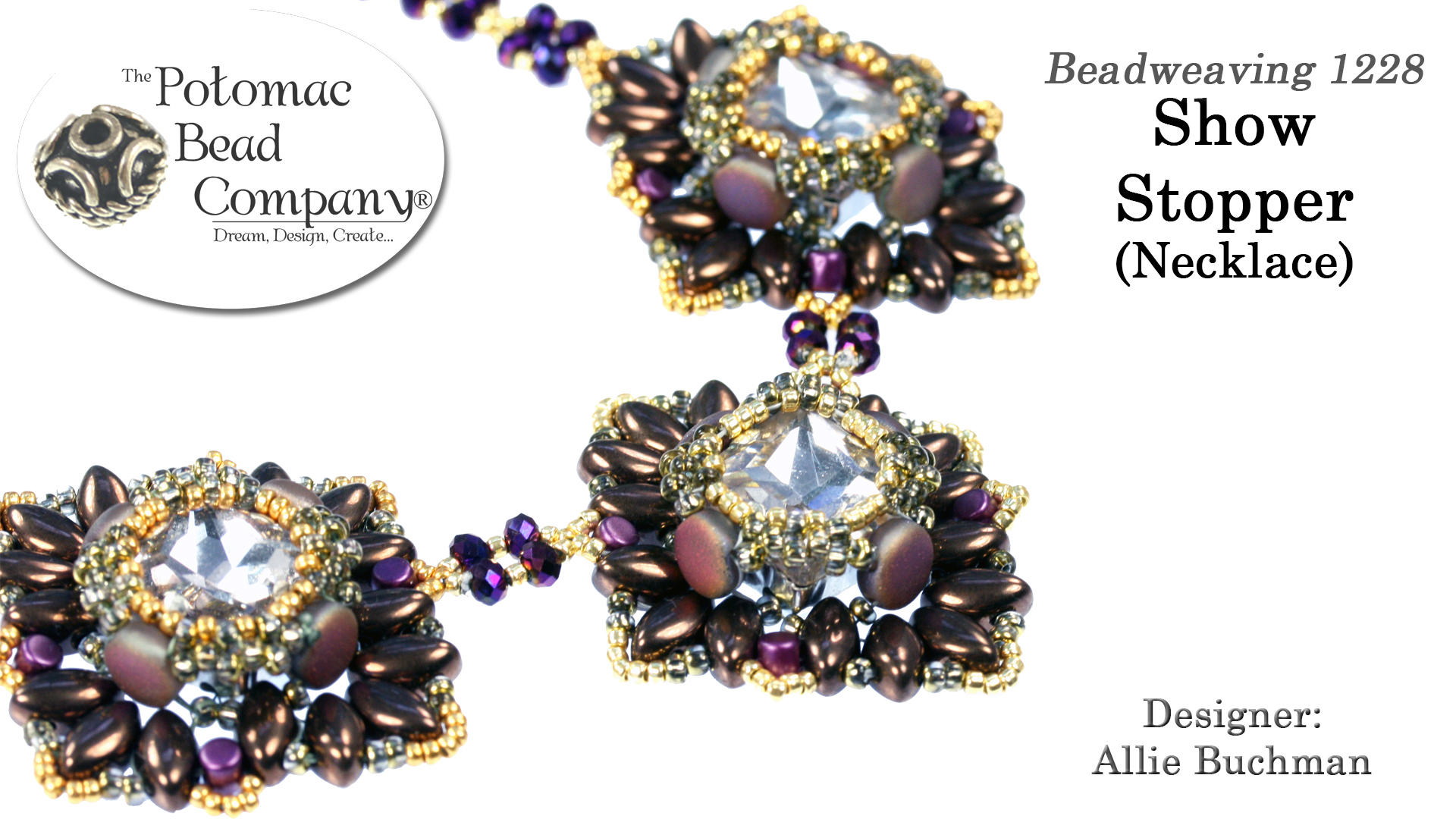 How to Bead Jewelry / Free Beading Patterns PDF / Potomac Crystal Square Patterns