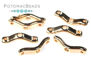 Czech Pressed Glass Beads / 3 Hole Beads / BowTrio