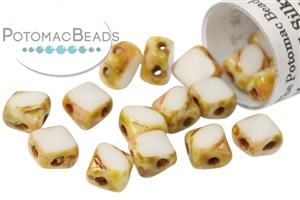 Czech Pressed Glass Beads / Czech Glass & Japanese Two Hole Beads / Table Cut Mini Silky Beads