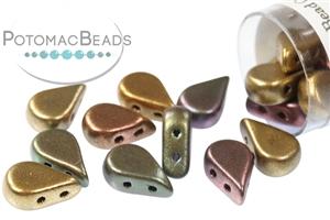Czech Pressed Glass Beads / Amos® par Puca® Beads