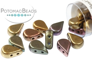 Czech Pressed Glass Beads / Czech Glass & Japanese Two Hole Beads / Amos® par Puca® Beads