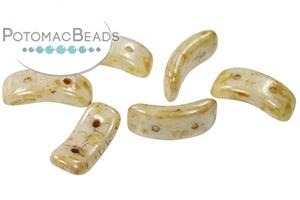 Czech Pressed Glass Beads / Czech Glass & Japanese Two Hole Beads / Bow Bead