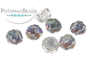 Czech Pressed Glass Beads / Czech Glass & Japanese Two Hole Beads / 2-Hole Baroque Cabochons