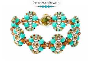 How to Bead Jewelry / Free Beading Patterns PDF / 2-Hole Spacer Bezel Patterns