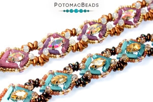 How to Bead Jewelry / Free Beading Patterns PDF / Potomac Crystal Navette Patterns
