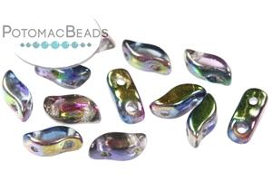 Czech Pressed Glass Beads / Czech Glass & Japanese Two Hole Beads / StormDuo