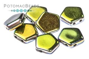 Czech Pressed Glass Beads / Czech Glass & Japanese Two Hole Beads / Pego