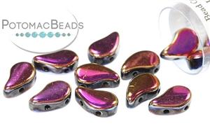 Czech Pressed Glass Beads / Paisley Duo