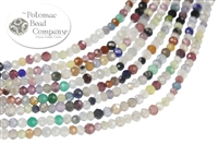 Jewelry Making Supplies & Beads / Gemstone Beads & Semi Precious Stone Beads / Sort By Size / 2-2.5mm Smooth & Faceted Gemstone Rounds