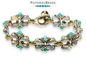 How to Bead Jewelry / Free Beading Patterns PDF / CzechMates 2-Hole Diamond Patterns