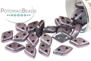 Czech Pressed Glass Beads / CzechMates Beads / Diamond (2-hole)