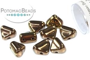 Czech Pressed Glass Beads / Half Silky Beads