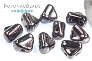 Czech Glass / 2-Hole Beads / Half Silky Beads