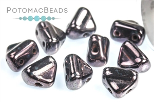 Czech Pressed Glass Beads / Czech Glass & Japanese Two Hole Beads / Half Silky Beads