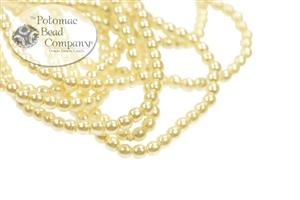 Czech Pressed Glass Beads / Czech Glass Pearls