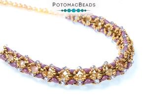 How to Bead Jewelry / Free Beading Patterns PDF / Quarter Tila Bead Patterns